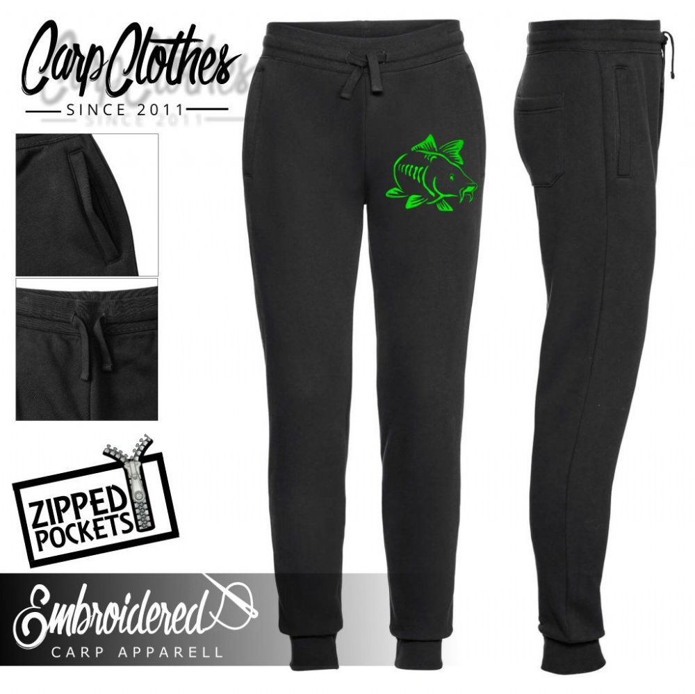 003 NEON EMBROIDERED JOGGERS BLACK